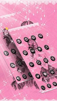 Pink Black Pretty Girl Skirt Theme poster