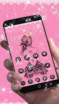 Pink Black Pretty Girl Skirt Theme screenshot 1
