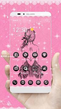 Pink Black Pretty Girl Skirt Theme screenshot 2