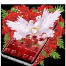 Красная роза Pigeon Heart Theme APK