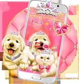 Cute Pinky Pets Theme icon