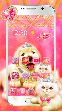 Cute Pinky Pets Theme poster