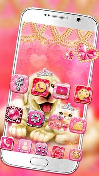 Cute Pinky Pets Theme screenshot 1