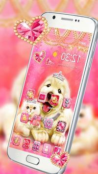Cute Pinky Pets Theme screenshot 2