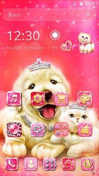 Cute Pinky Pets Theme screenshot 3