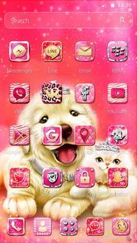Cute Pinky Pets Theme apk screenshot