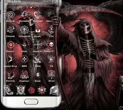 black red skull theme screenshot 2