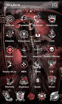 skull black red theme for android apk download