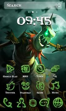 Halloween Green Monster Theme apk screenshot