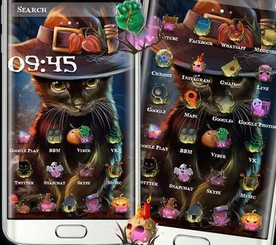 Beautiful Cat Halloween Theme poster