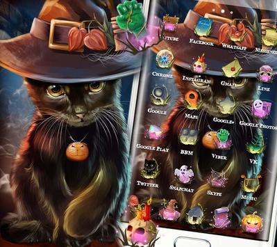 Beautiful Cat Halloween Theme screenshot 1