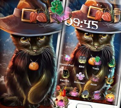Beautiful Cat Halloween Theme screenshot 2