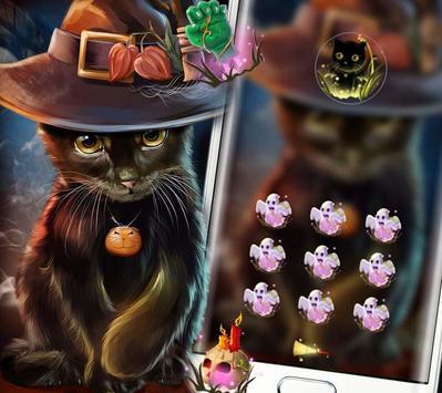 Beautiful Cat Halloween Theme screenshot 3