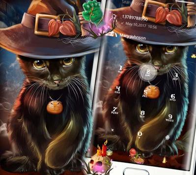 Beautiful Cat Halloween Theme screenshot 4