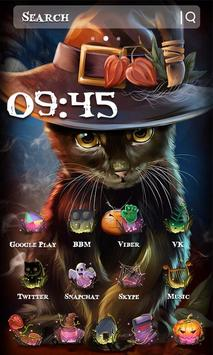 Beautiful Cat Halloween Theme screenshot 6
