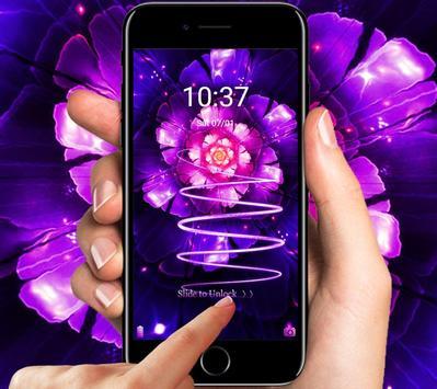 Cool purple flower wallpaper & lock screen screenshot 1