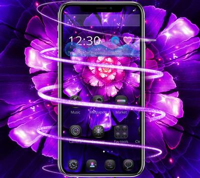 Cool purple flower wallpaper & lock screen screenshot 2