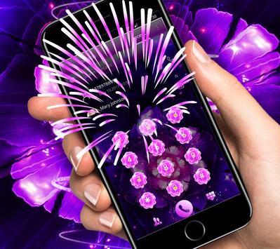 Cool purple flower wallpaper & lock screen screenshot 3