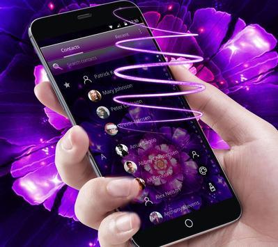 Cool purple flower wallpaper & lock screen screenshot 4