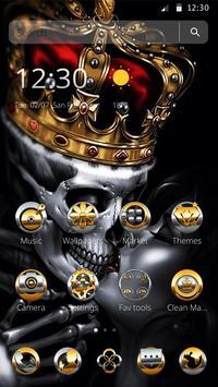 Gold Skull King Theme poster