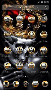 Gold Skull King Theme screenshot 1