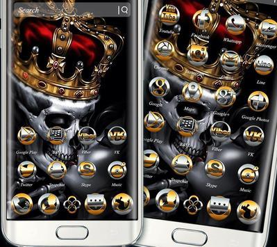 Gold Skull King Theme screenshot 4