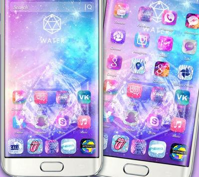 Starry Bling Shining Water Pink Theme ポスター