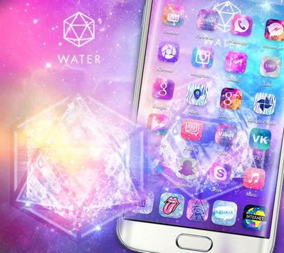 Starry Bling Shining Water Pink Theme स्क्रीनशॉट 1