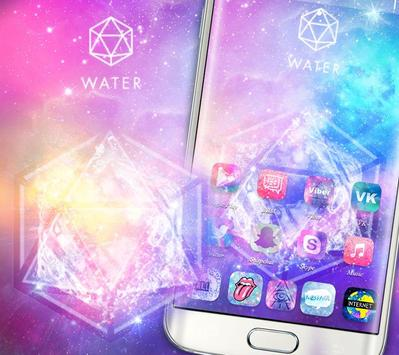 Starry Bling Shining Water Pink Theme स्क्रीनशॉट 3
