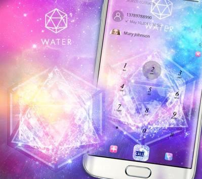 Starry Bling Shining Water Pink Theme screenshot 4