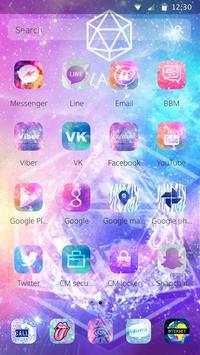 Starry Bling Shining Water Pink Theme screenshot 5