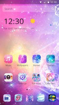 Starry Bling Shining Water Pink Theme screenshot 6