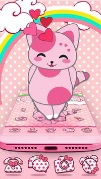 Rosa Pink Kitten Theme apk screenshot