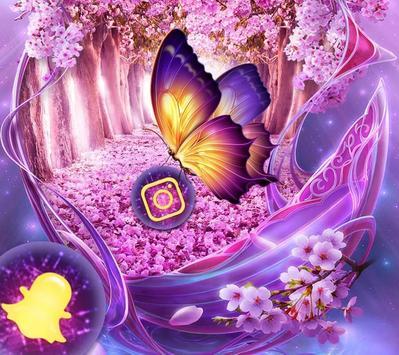 The Purple Fantasy Wonderland Theme poster