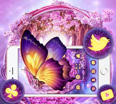 The Purple Fantasy Wonderland Theme apk screenshot