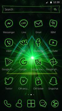 Storming Green Light Theme screenshot 1
