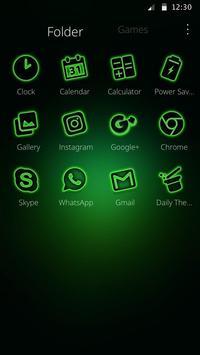 Storming Green Light Theme screenshot 2