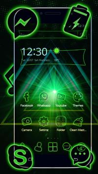Storming Green Light Theme screenshot 3