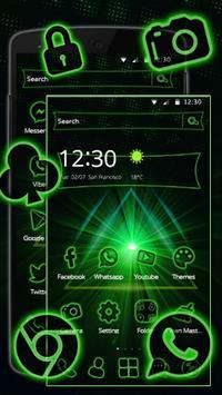 Storming Green Light Theme screenshot 5