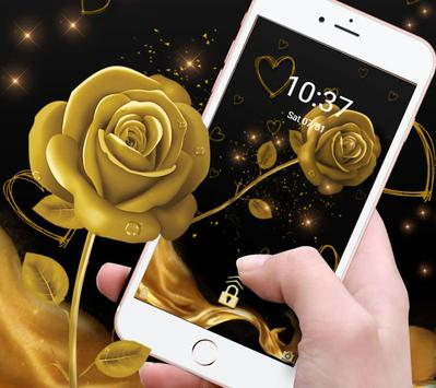 The Golden Rose Theme apk screenshot