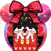 Cute Red Minny Bow Theme-icoon