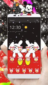 Cute Red Minny Bow Theme Plakat