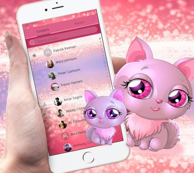 Pink cat theme apk screenshot