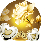 Refined Golden Lotus Flower Theme icon