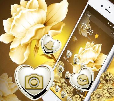 Refined GoldenLotus Flower Theme poster