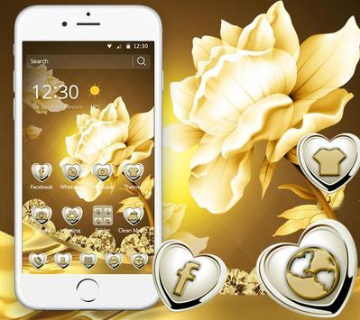 Refined GoldenLotus Flower Theme apk screenshot