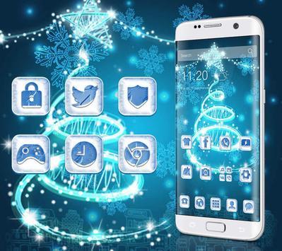 Blue Twinkle Christmas Theme screenshot 1