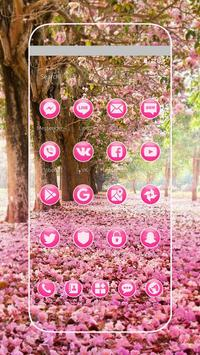 Pink Flowers Blossom Theme screenshot 1