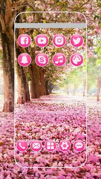 Pink Flowers Blossom Theme screenshot 2