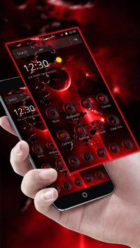 Red hell universe theme icon Red Technology poster